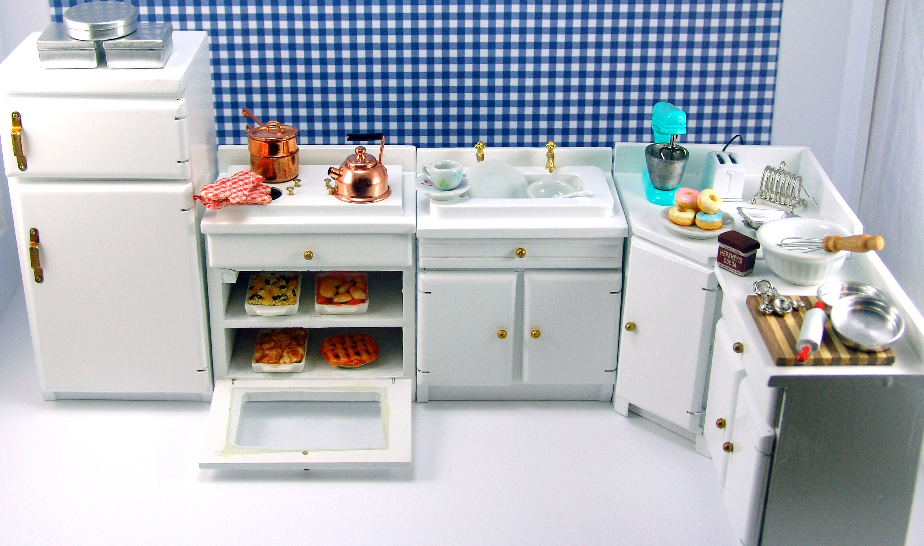 dollhouse kitchen furniture. Unique Furniture Dollhouse Miniature Kitchen Furniture On V